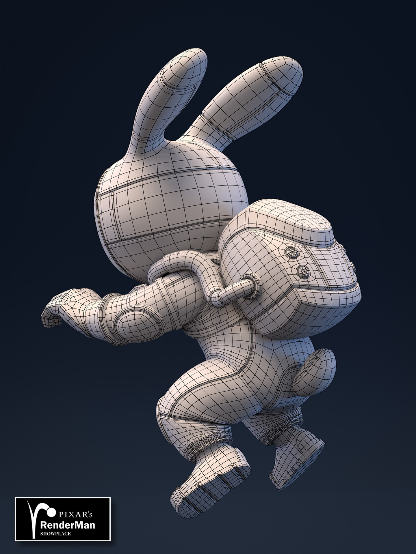 Brice laville saint martin rocket rabbit retopo back