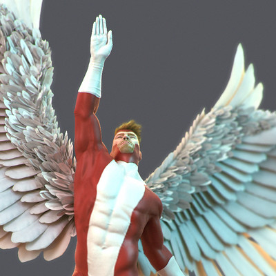 Martin jario martinjario angel xmen zbrush