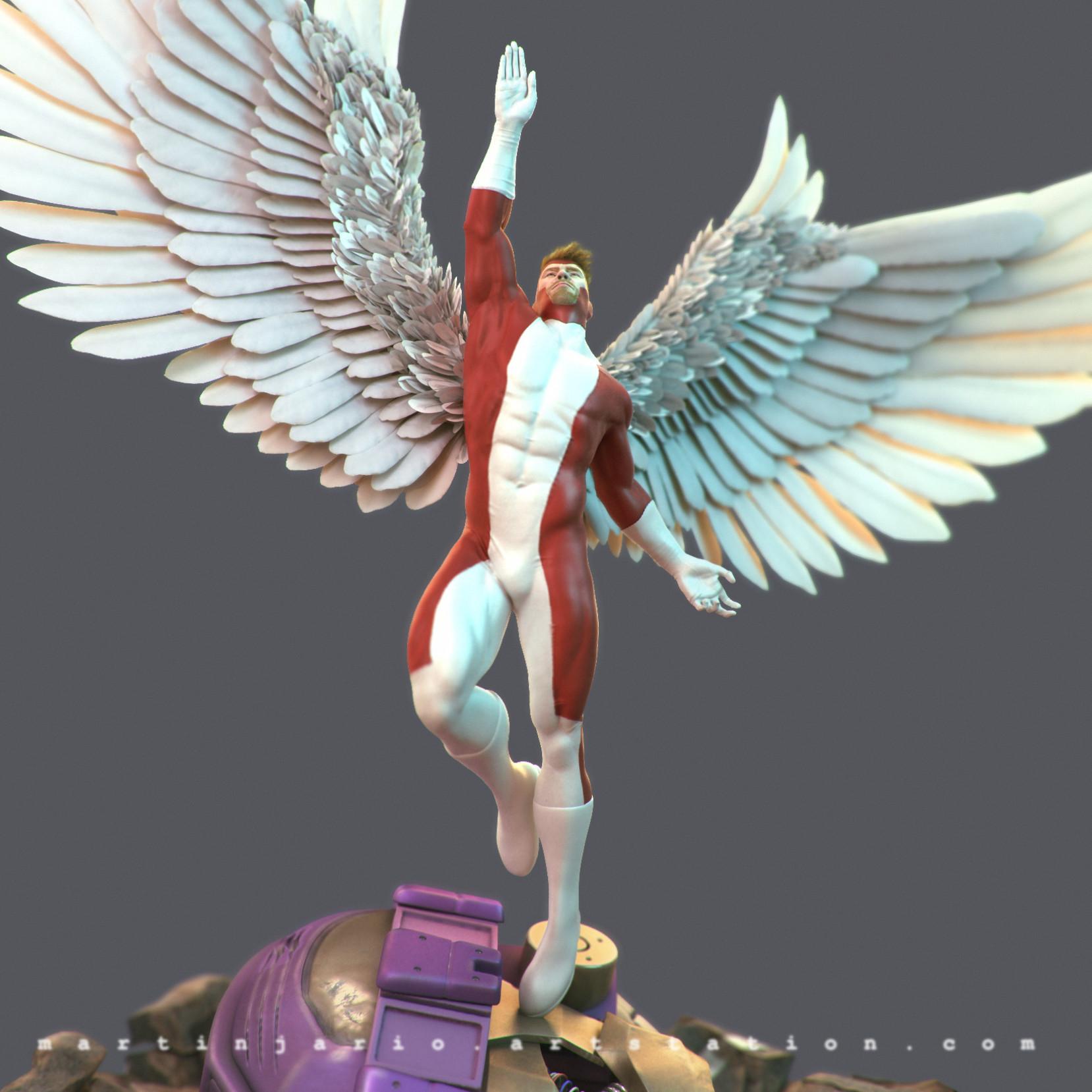 Martin jario martinjario angel xmen zbrush detail 07