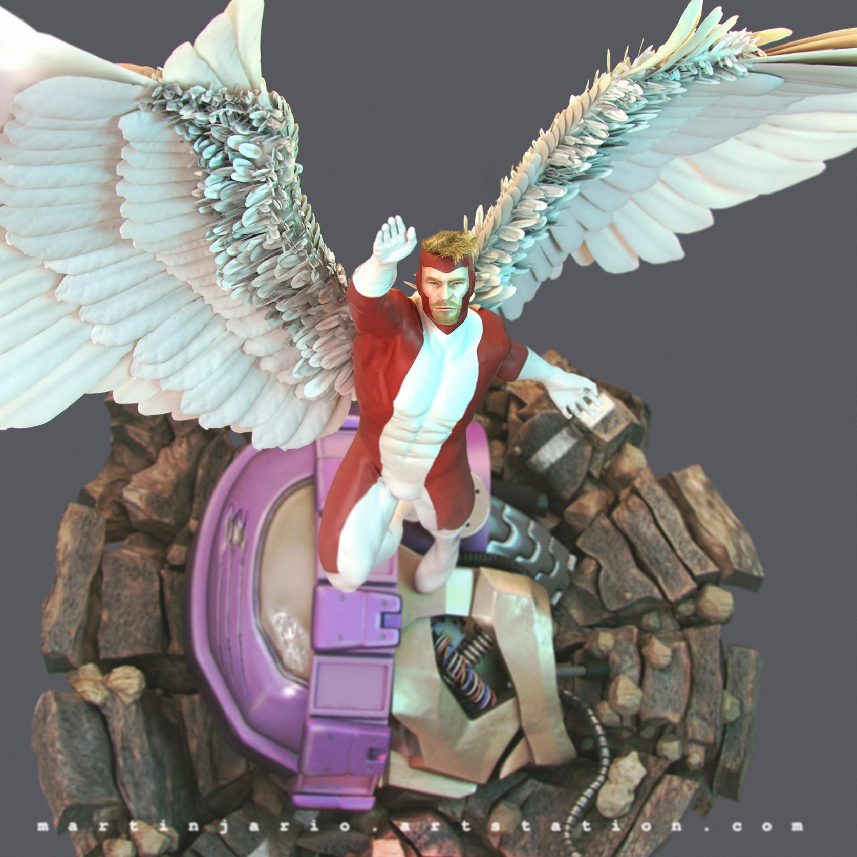 Martin jario martinjario angel xmen zbrush top 2 detail