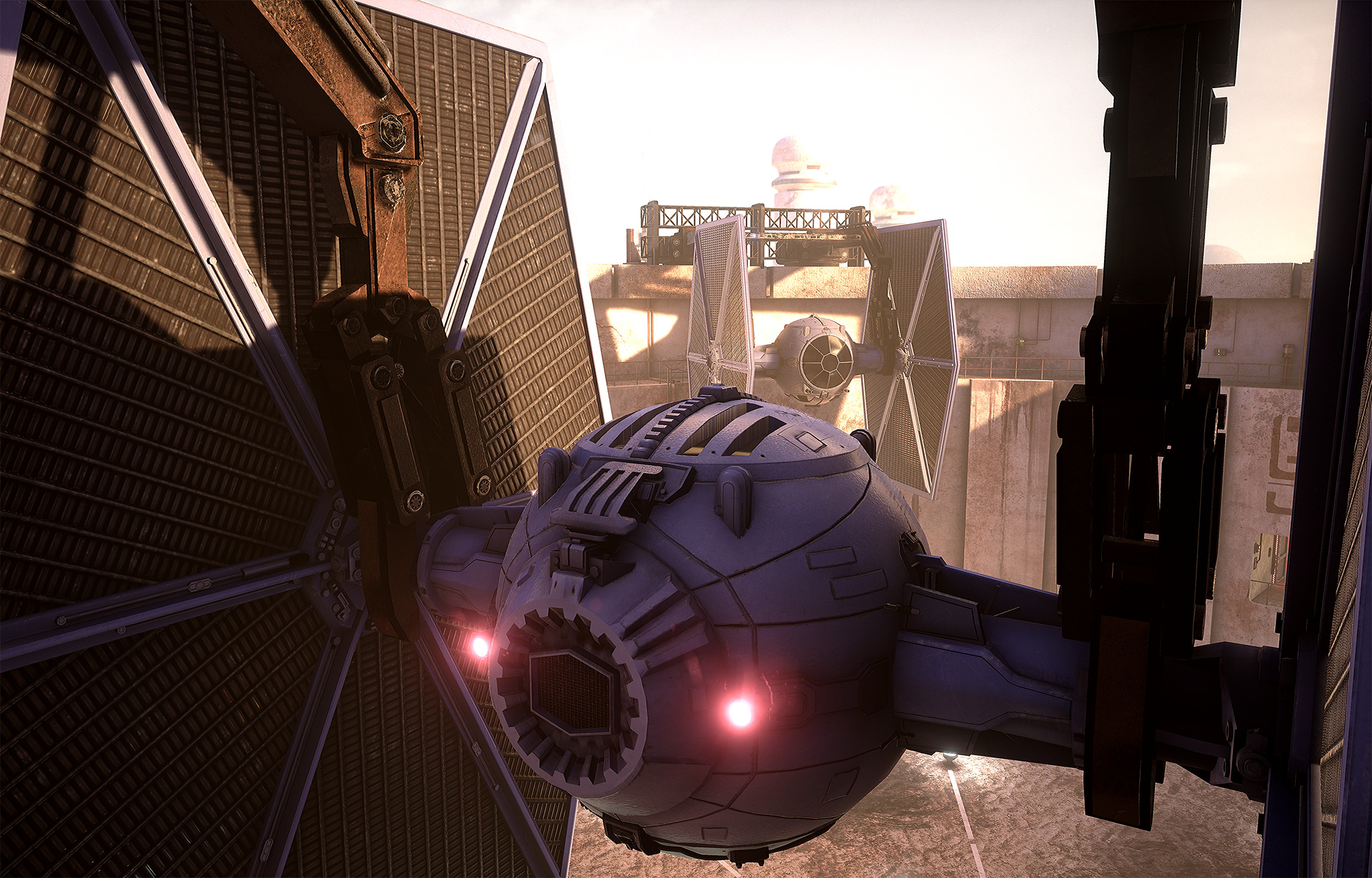 Tie Fighter: model, textures, shader