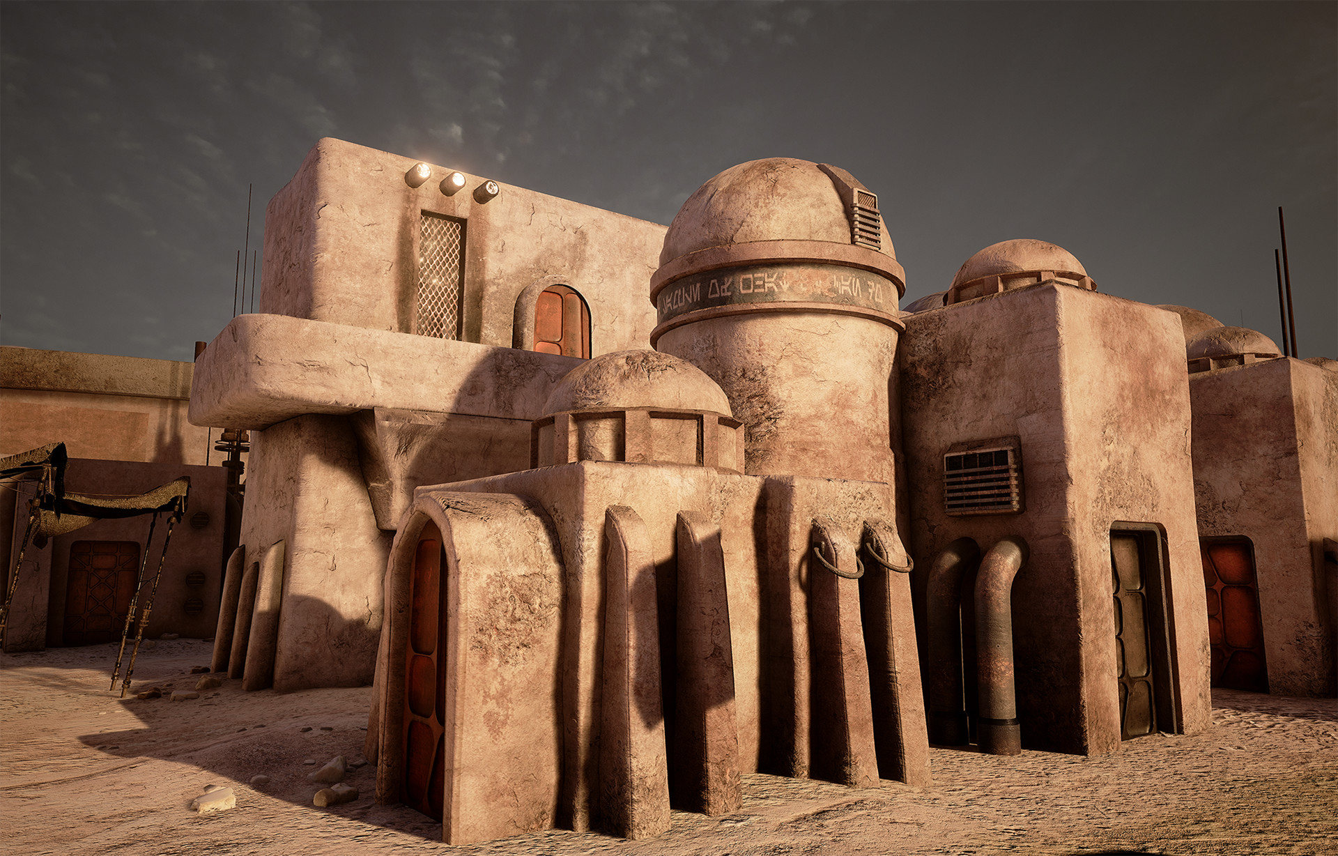 Buildings: model, textures, shader