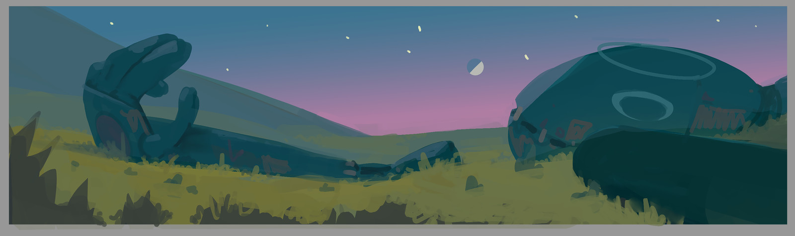 initial mood painting