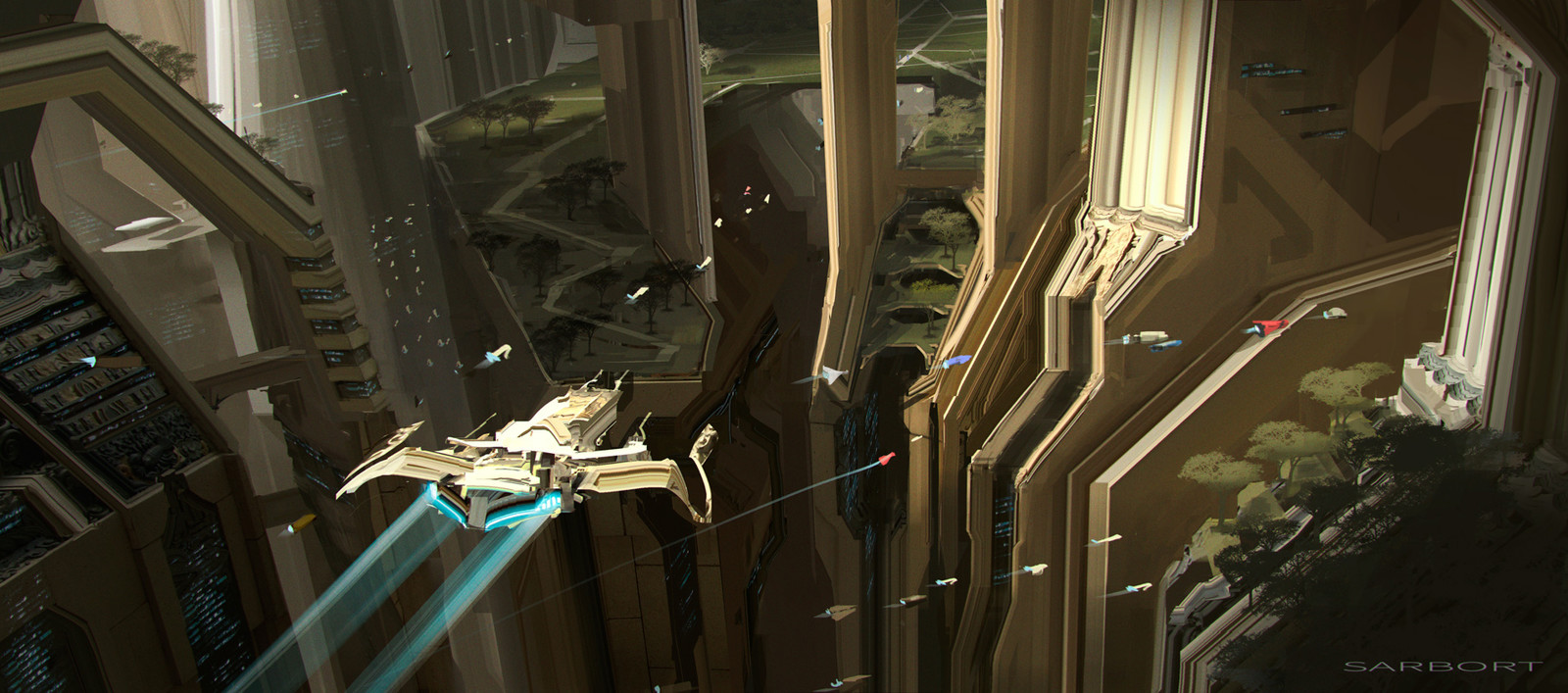 Sci-fi architecture sketch