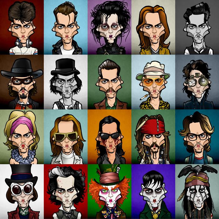 Original 20 caricatures