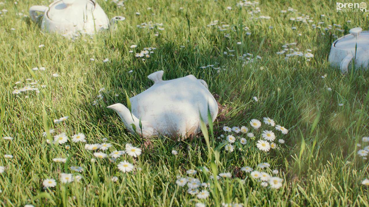 Oren leventar grass teapot p