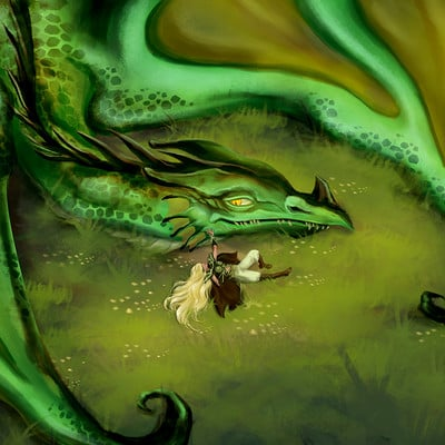 Erika ferreira dragon and lady 3 artstation