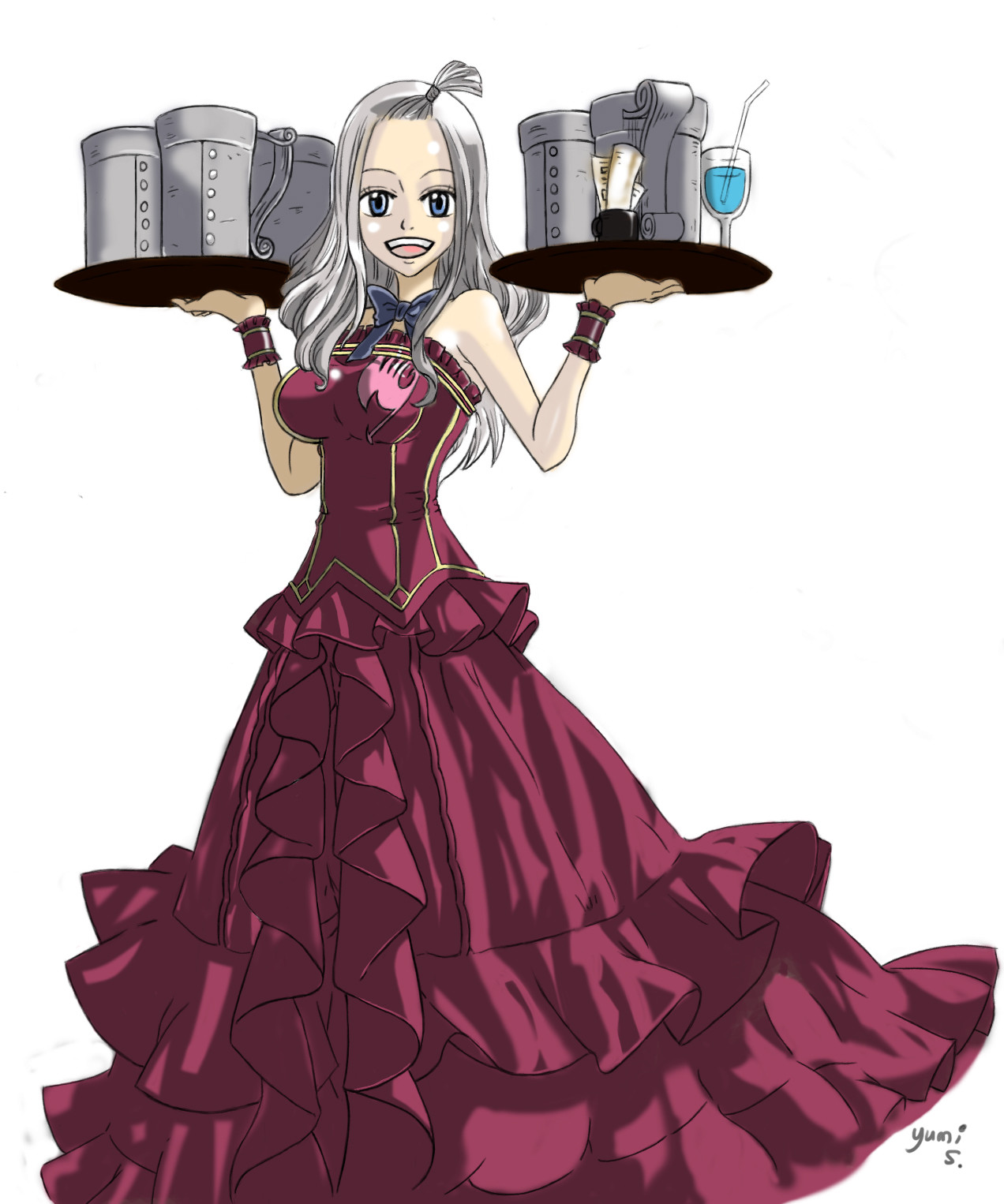 Tayanne Yumi Mirajane Strauss Fairy Tail Fanart #fairy tail #mirajane strauss #mirajane #ftgraphics #this is what i was originally planning to do #well ahhh you actually messaged me as i was working on the first mirajane one so perfect timing xd…? tayanne yumi mirajane strauss fairy