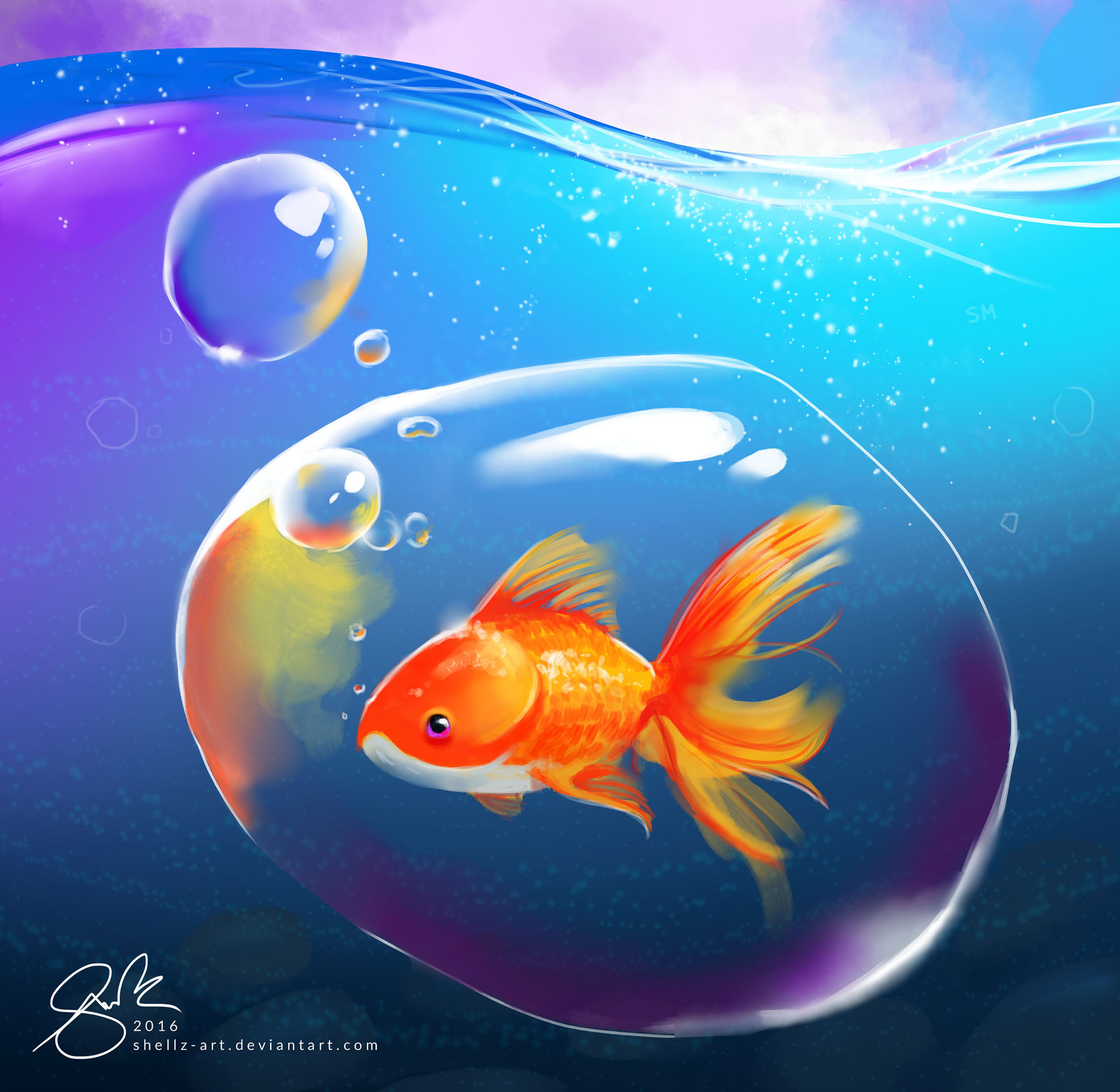 Shellz art goldfish