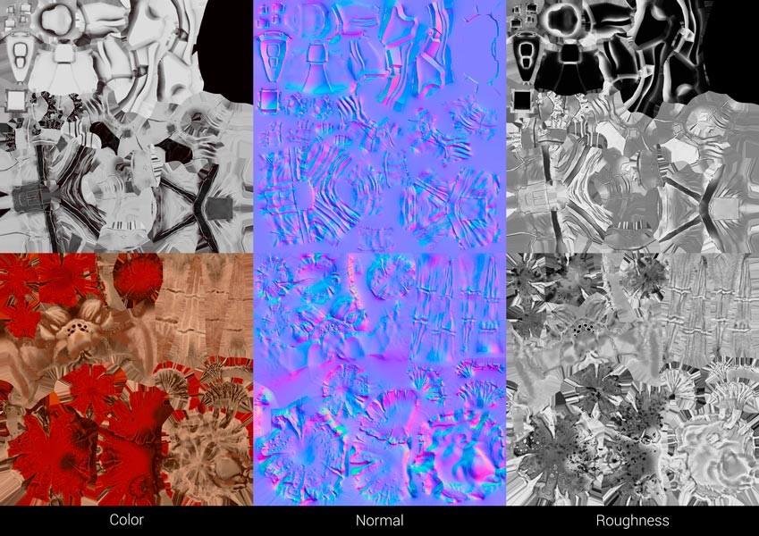 Pierre bourgerie textures