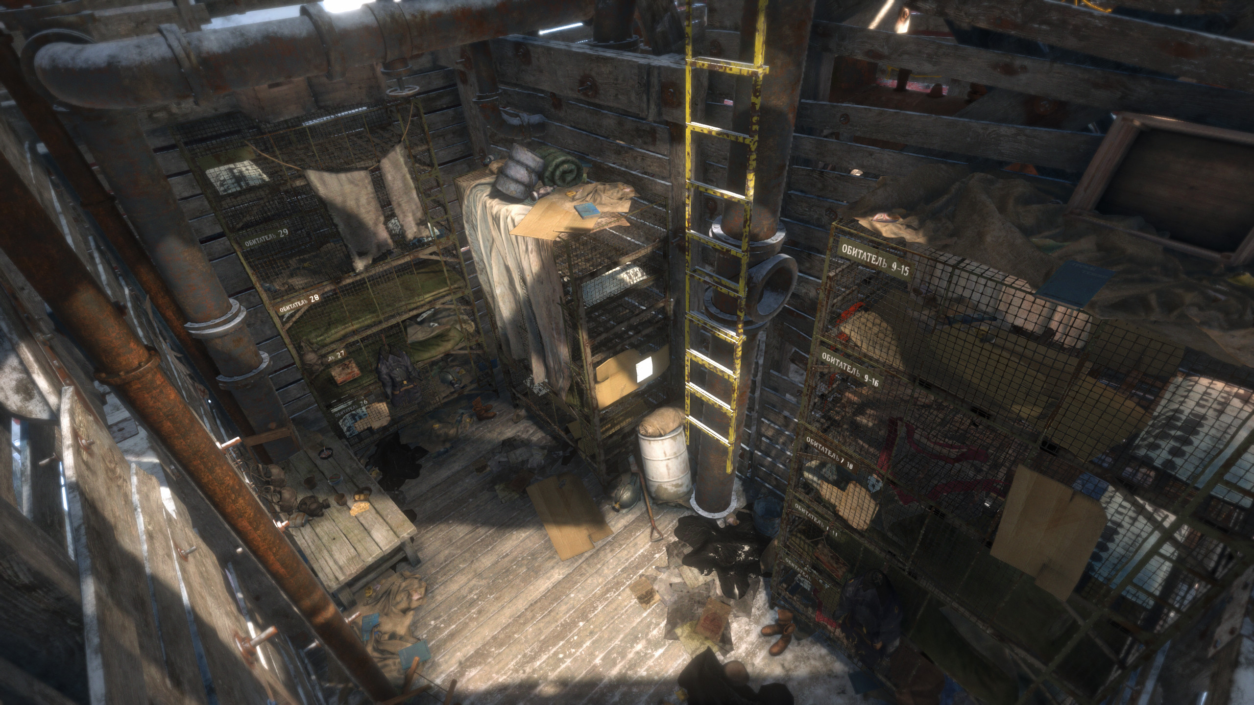 I was responsible for creating this whole area showing the working conditions of the miners. A lot of shared set dressing assets has been used along with some unique ones that were created by me for this scene.