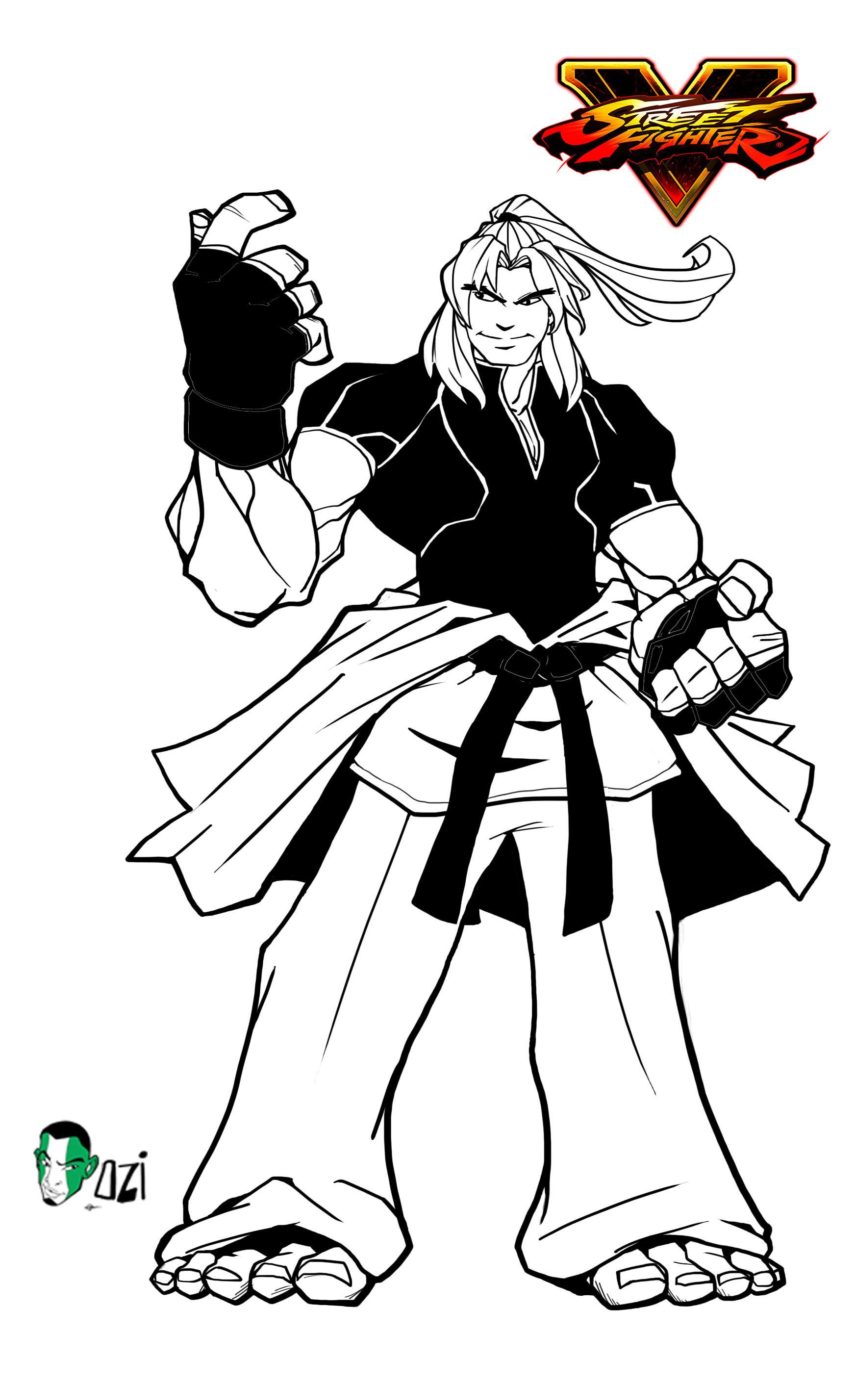 Artstation Ken Street Fighter V Fan Art Dominic Oziren Omoarukhe