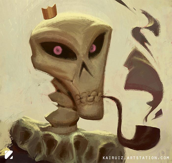 Carlos ruiz art skull2