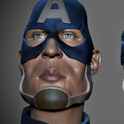 Captain America 3D Sculpt WIP