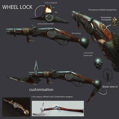 John mccambridge wheellock17th century pistol concept by johnmccambridge d8e3z7b