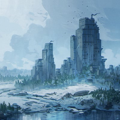 Jorge jacinto winter landscape sketch