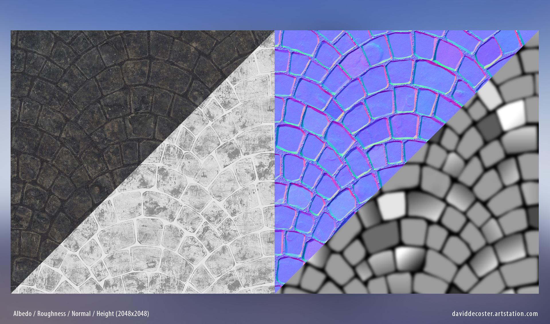 David decoster cobblestone fan textures