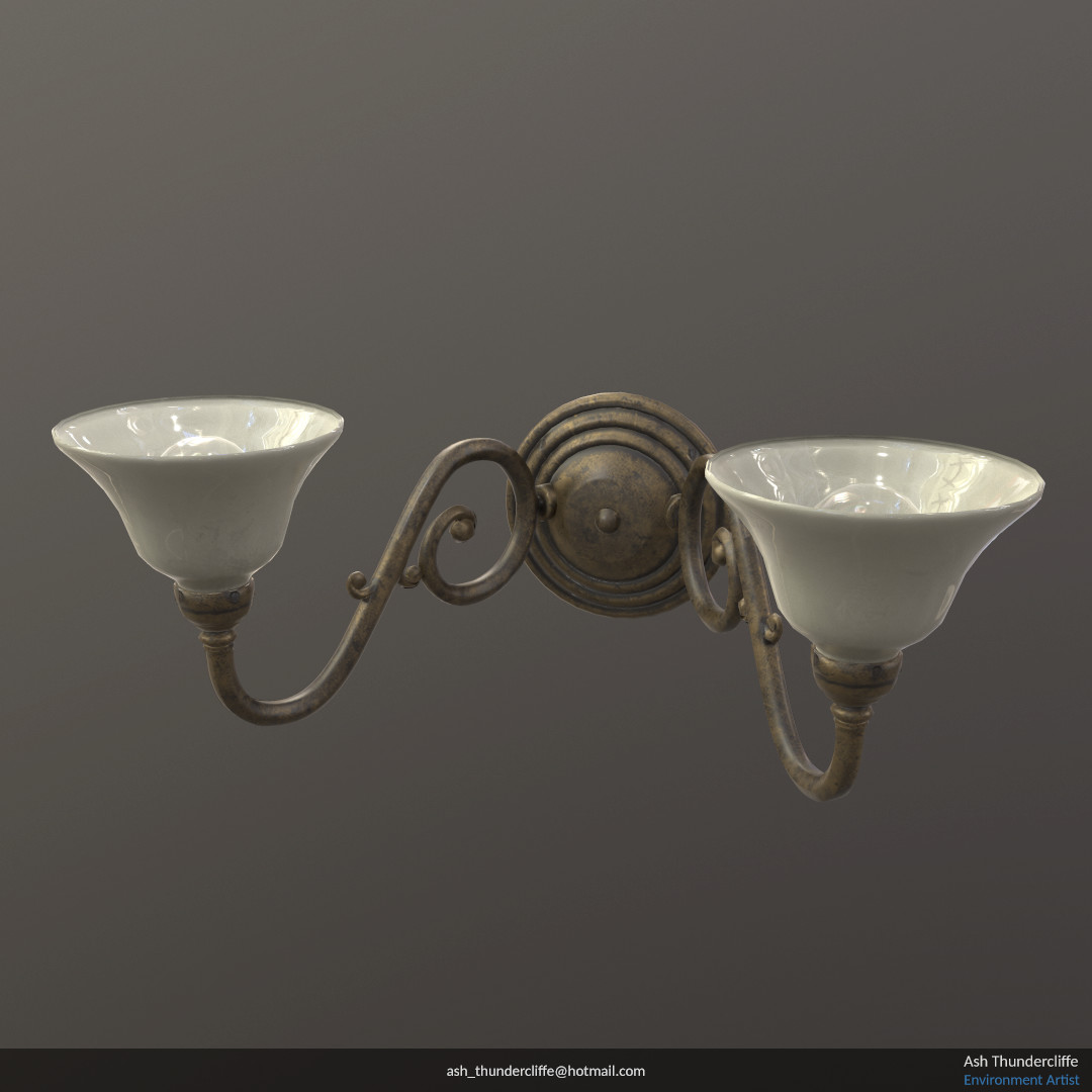 Wall Lamp Textured In Quixel