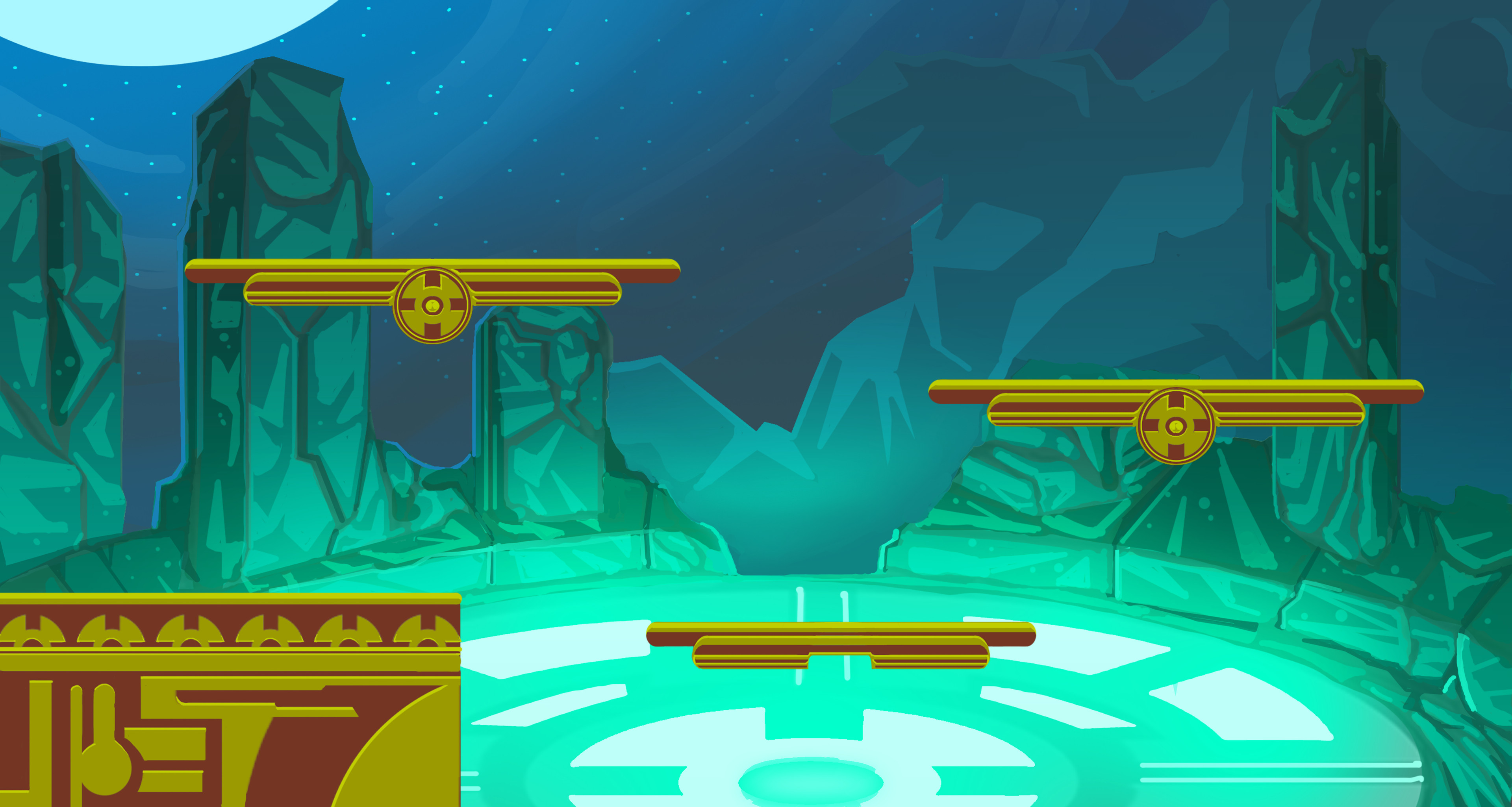the character's level( fighting platform game)