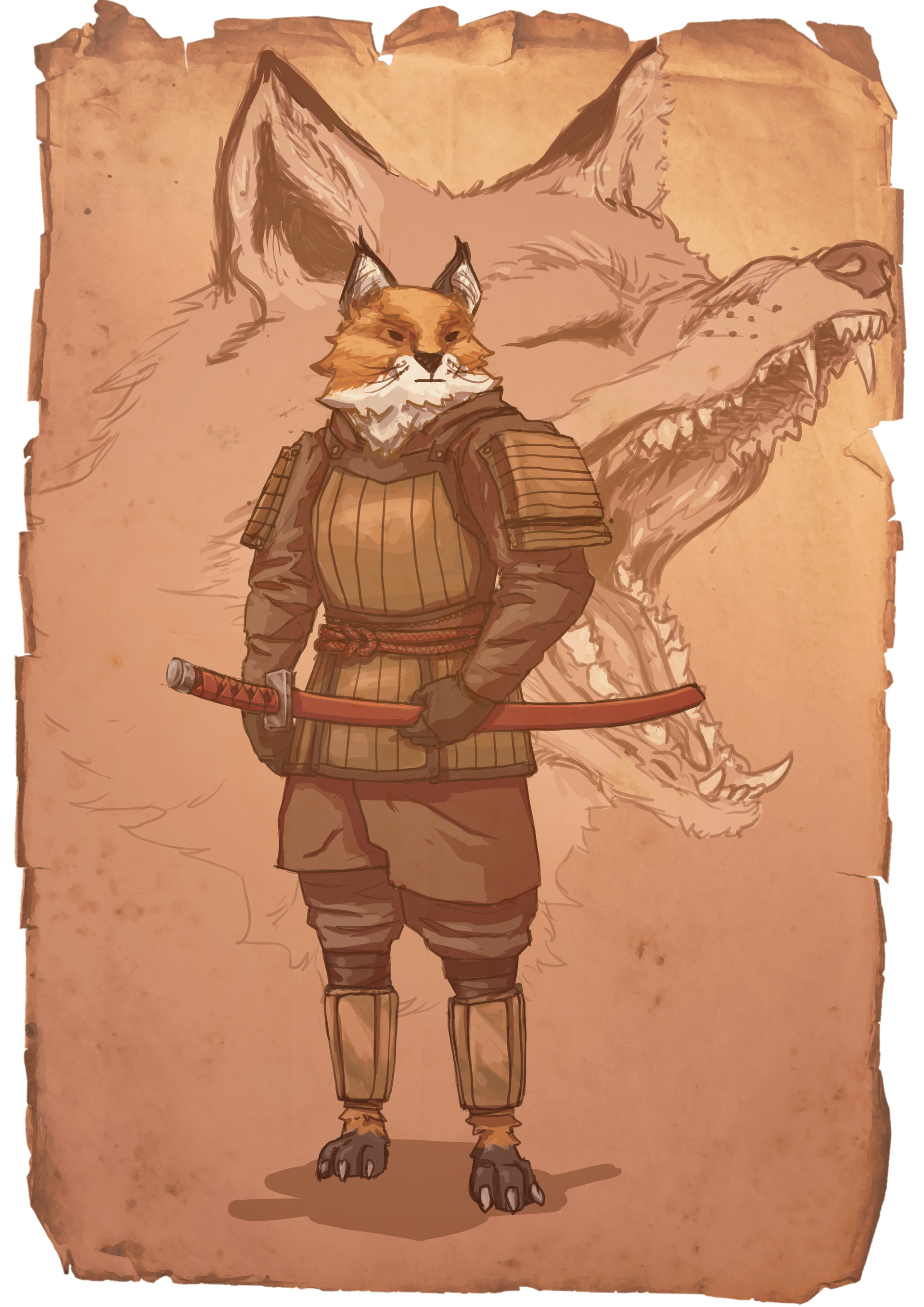 Jean philippe hugonnet samourai fox jp charadesign3