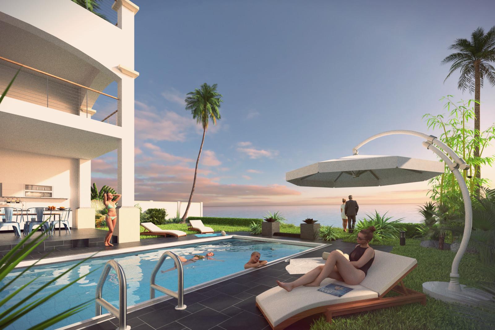 SketchUp + Thea Render  Seagrove Beach House: Poolside 02 3-2 Day B Karl Early 1620 × 1080 Presto MC Bucket