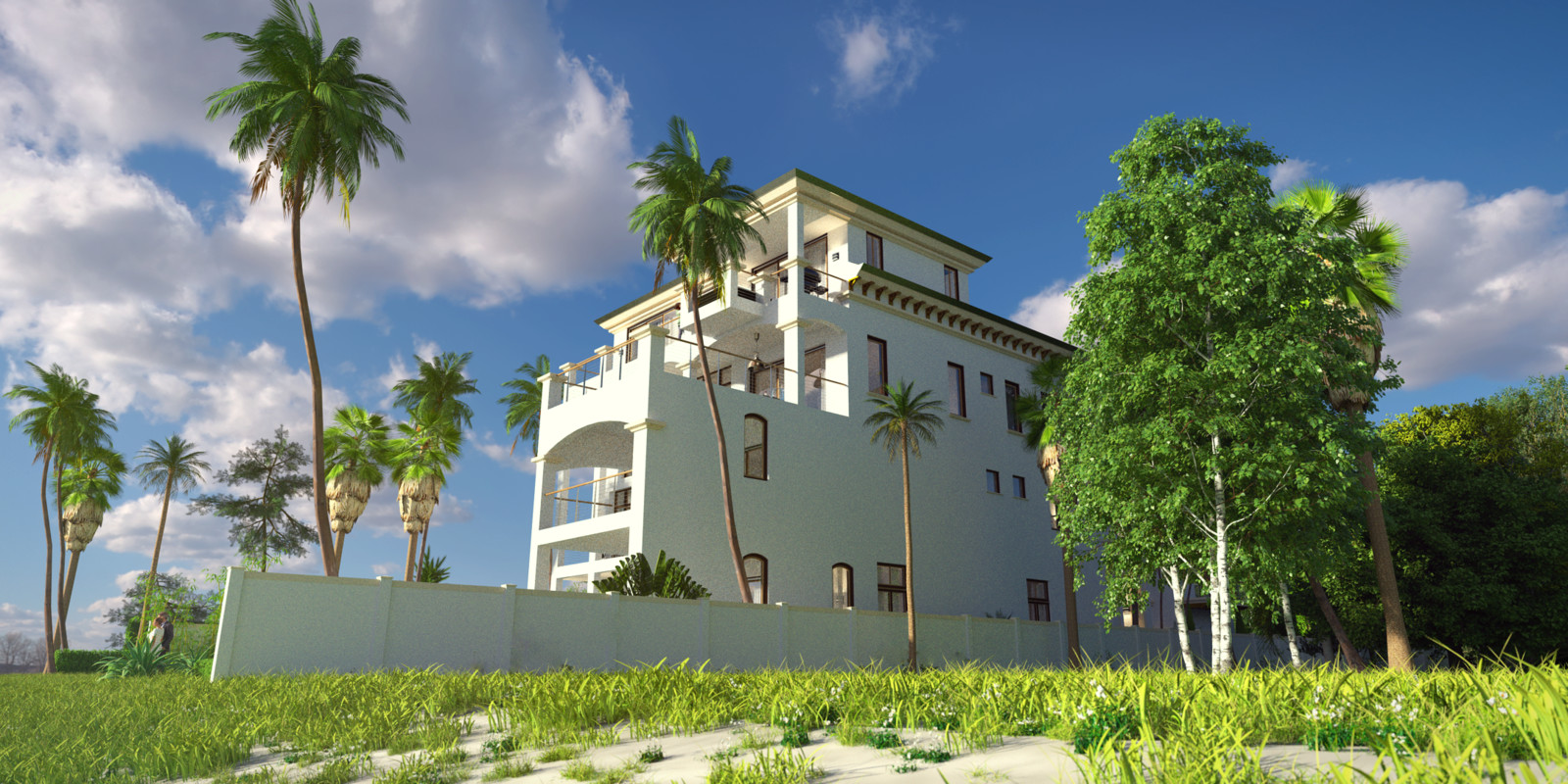 SketchUp + Thea Render  Seagrove Beach House: Scene 3 B Lumina Early 2160 × 1080 Presto MC Bucket  HDR used (HQ version) by HDRI-SKIES http://hdri-skies.com/shop/hdri-sky-162/