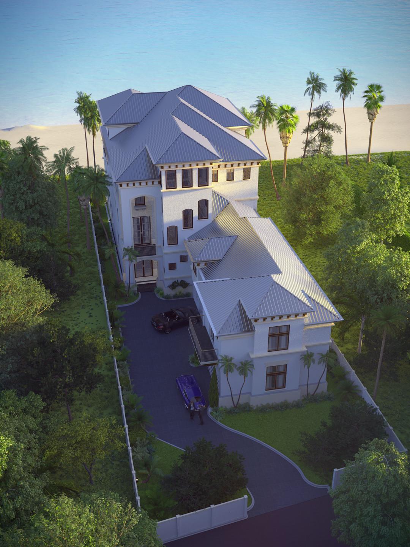 SketchUp + Thea Render  Seagrove Beach House: Ariel Vertical 4-3 A Lumina Early 1080 × 1440 Presto MC Bucket
