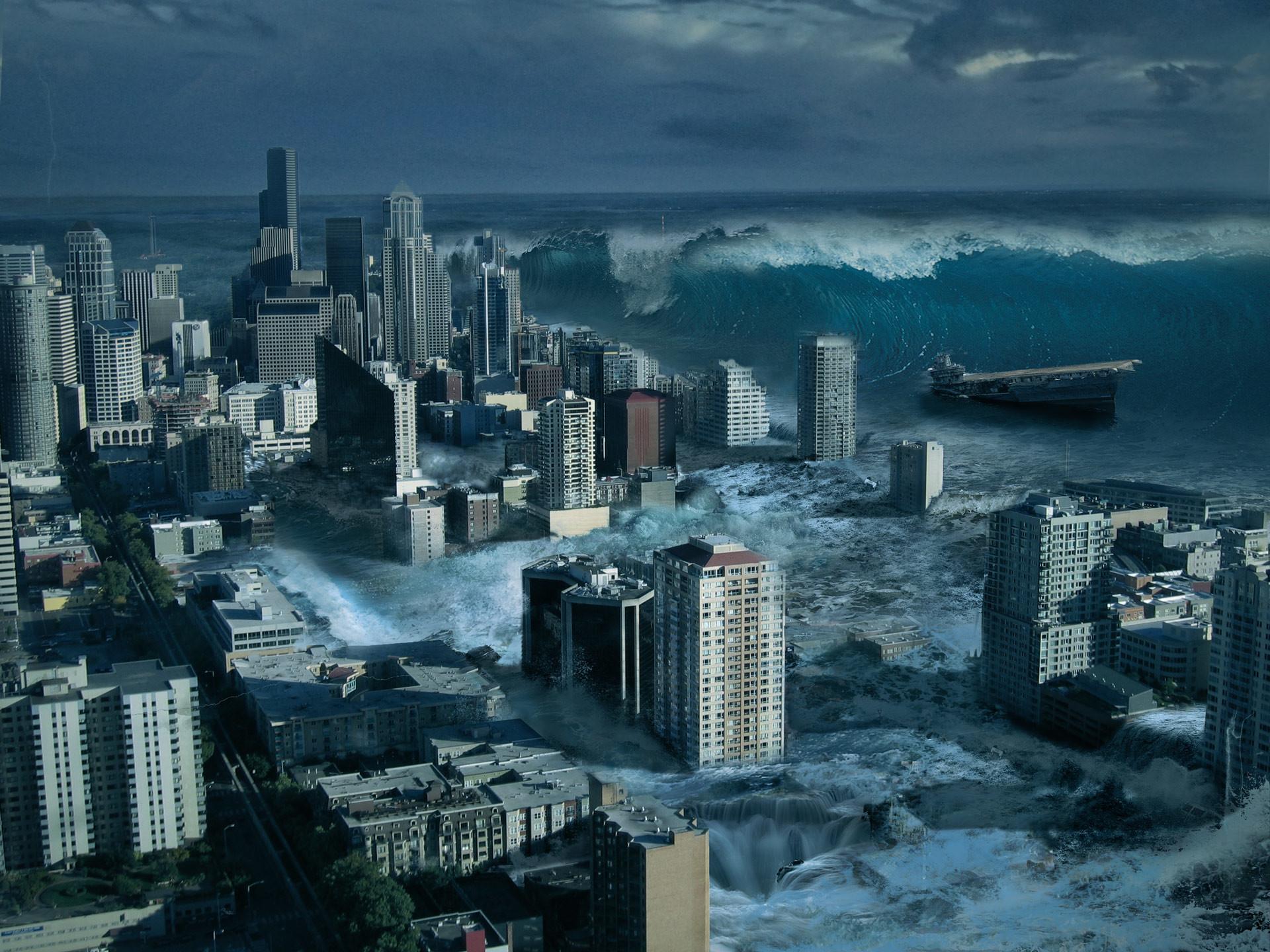 artstation tsunami apocalypse sergey likhachev