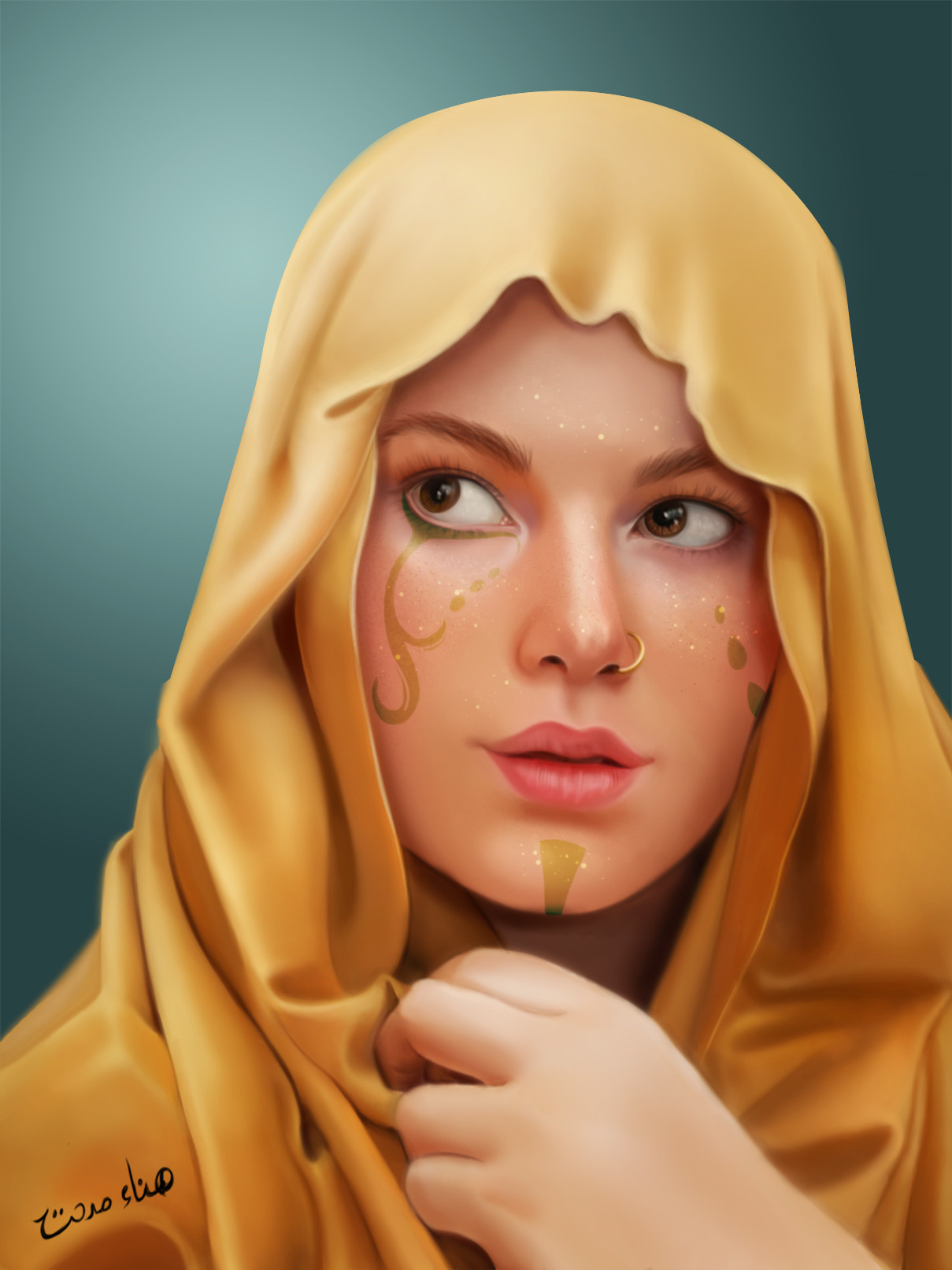 Hanaa medhat gold woman