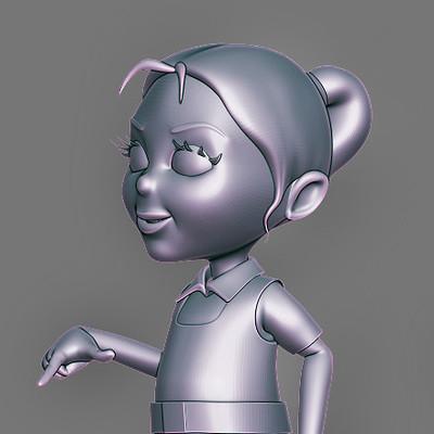 Natraj s cartoon girl