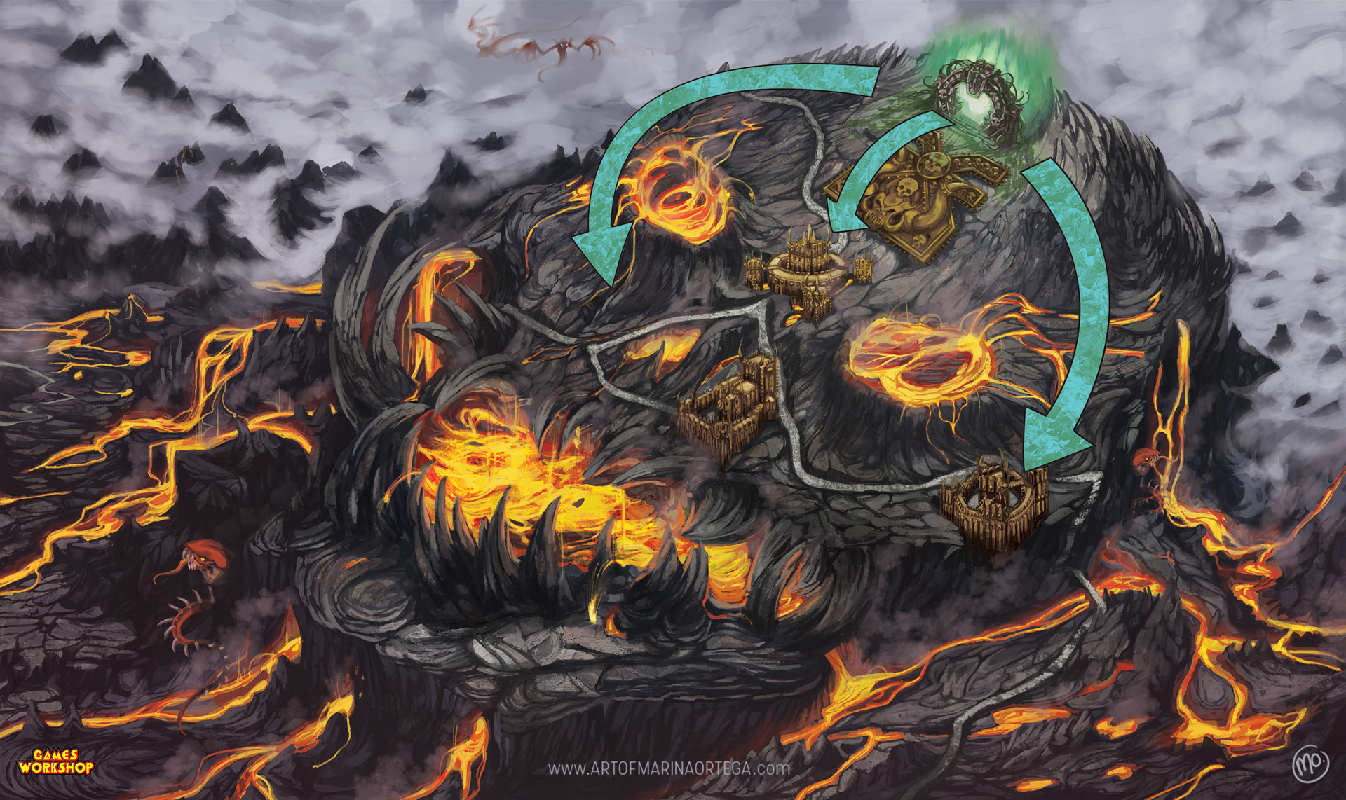 Marina ortega marinaortega sylvaneth realm of fire map www artofmarinaortega