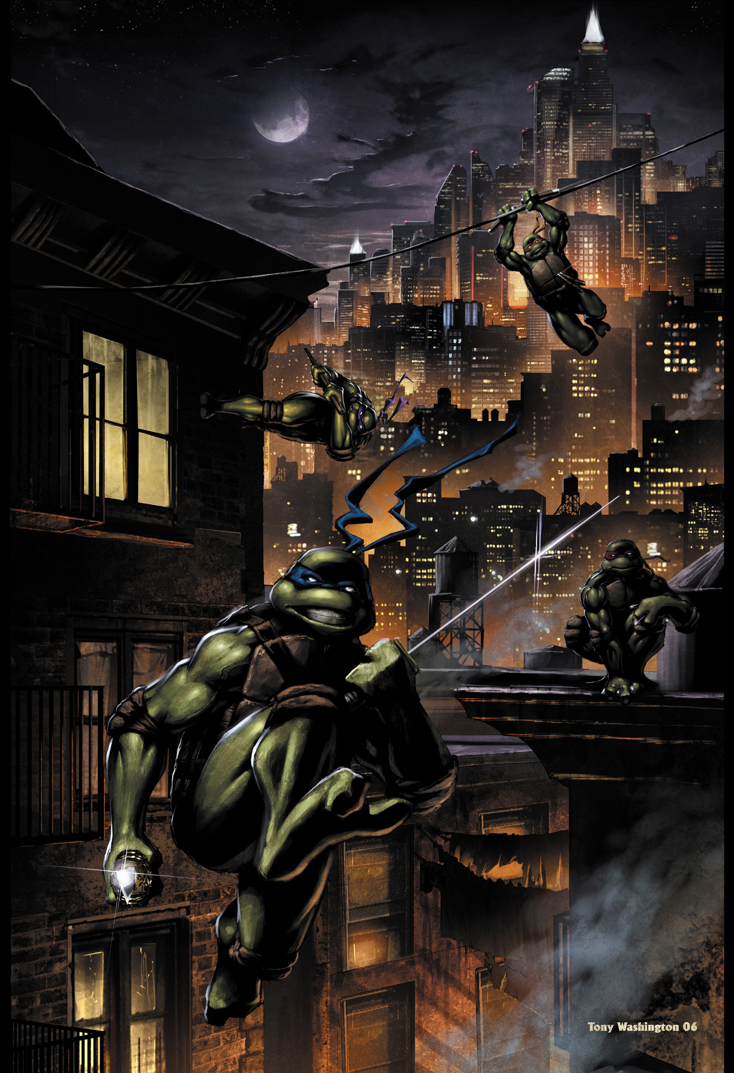Anthony washington 3 tmnt pinup