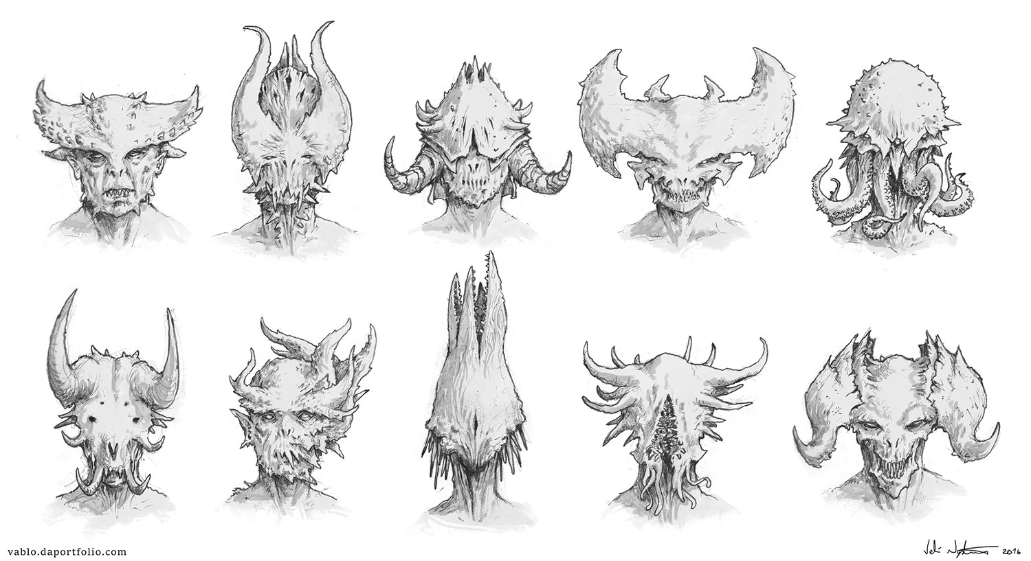Demon head concepts