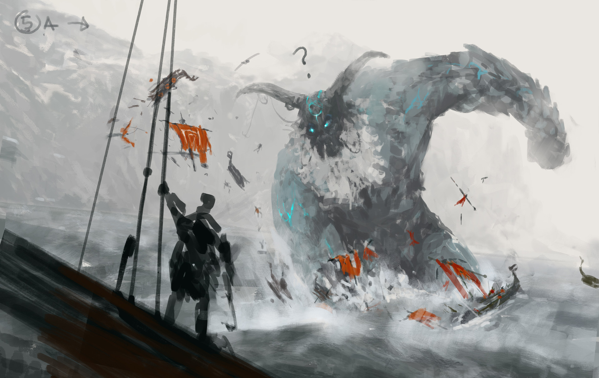 Jakub rozalski ancients 03workprocess6