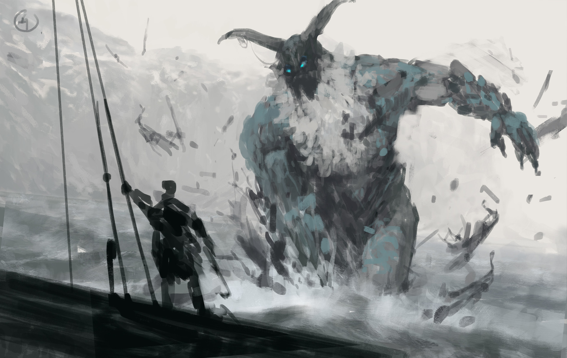 Jakub rozalski ancients 03workprocess4