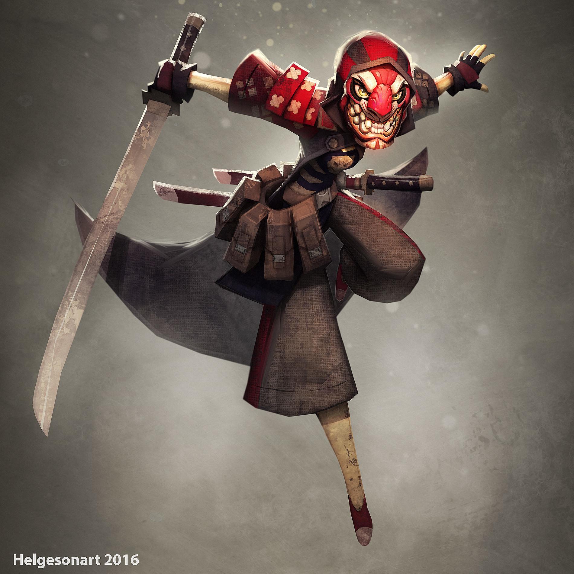 Artstation Samurai Character Design Johannes Helgeson