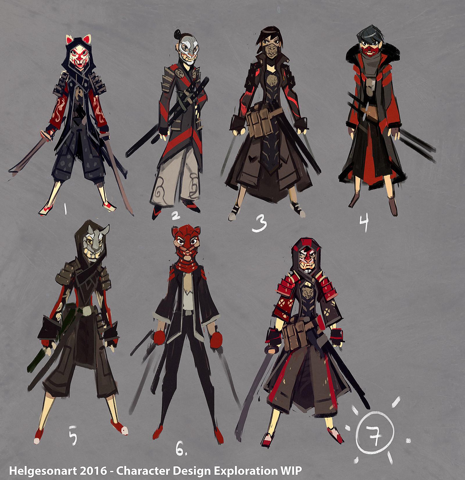Character Design Challenge Concept : Johannes helgeson samurai character design