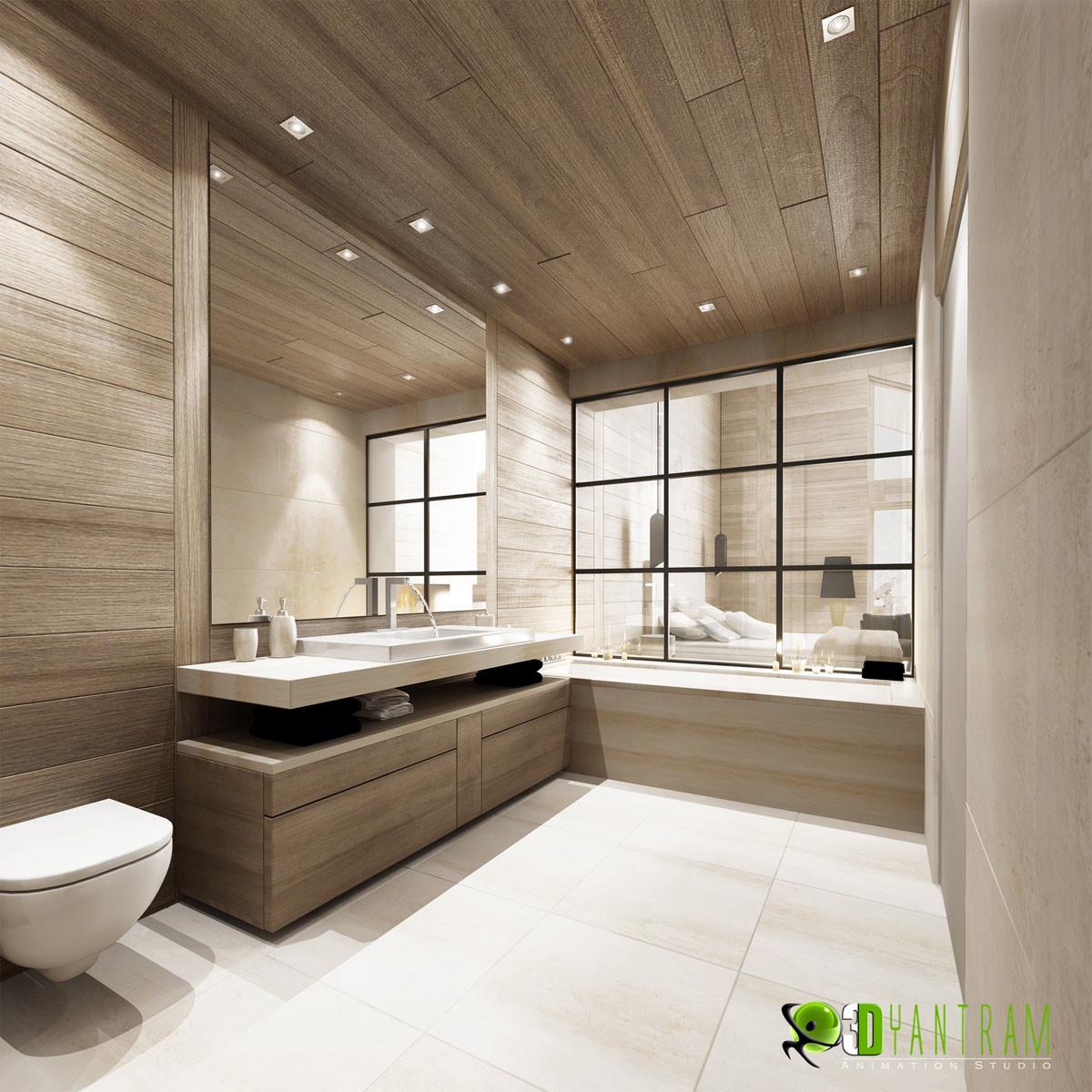 Yantram Studio Modern 3d Bathroom Interior Design Canada