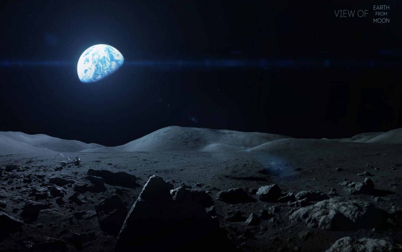 artstation earth from moon vadim sadovski