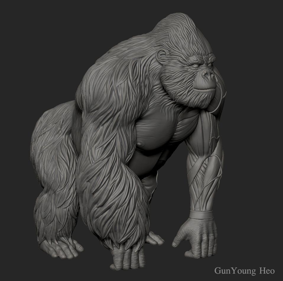 Artstation Gorilla Anatomy 3d Print Object Kunyoung Heo