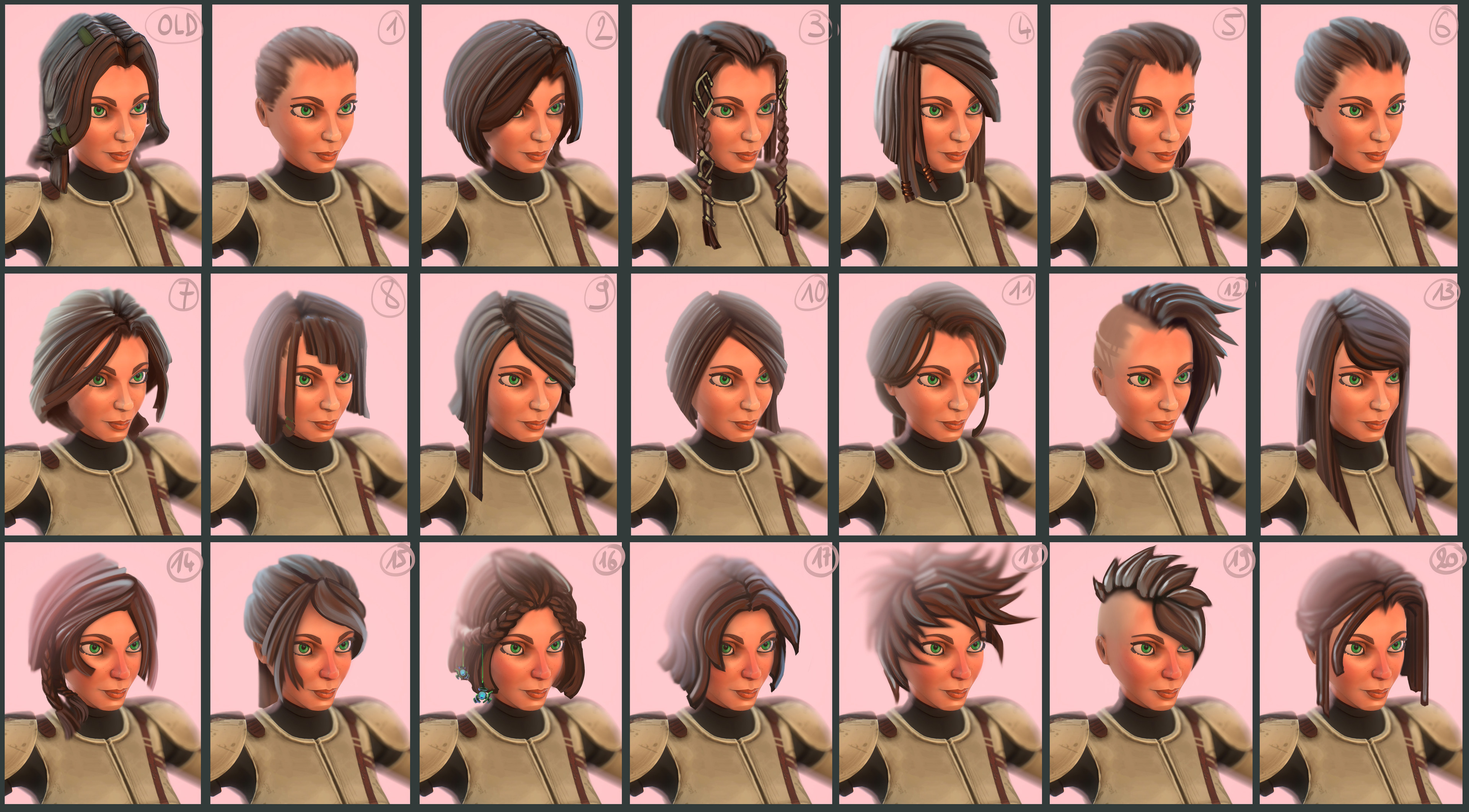 Trying many new hairstyles as I didn't really like her original look ( paintover on photshop )