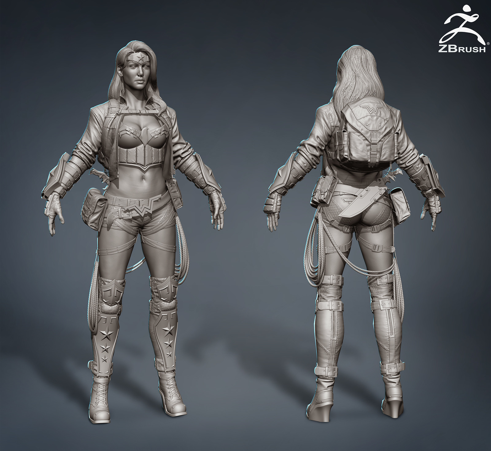 Wonder Woman Hires Sculpt