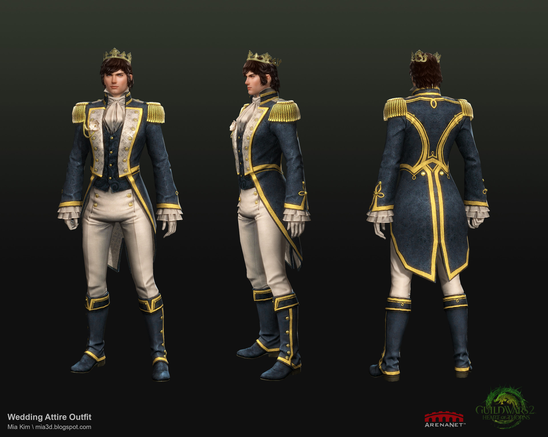 ArtStation - Guild Wars 2 : Wedding outfit for Human Male