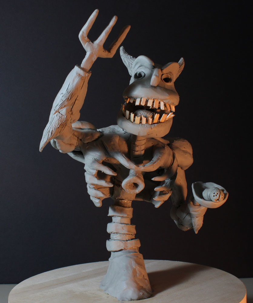 Rob mcdaniel 3dclay demon glut front