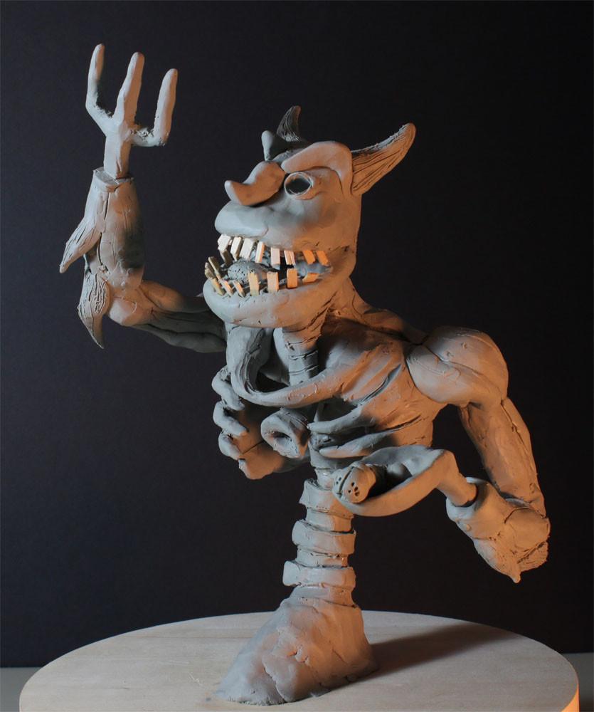Rob mcdaniel 3dclay demon glut side