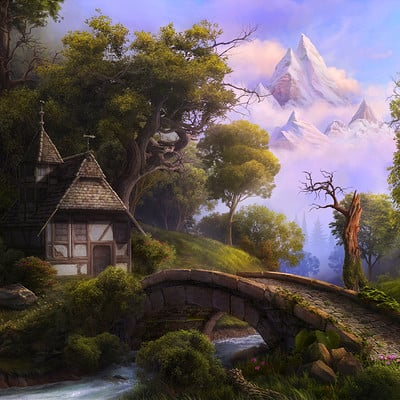 Sergey hudyakov fairytale landscape by reinmar84 d6uaii7