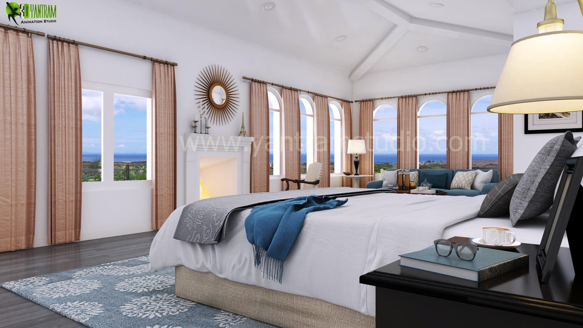 ArtStation - Beautiful 3D Master Bedroom Design Beach View ...