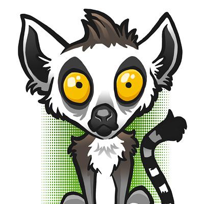Steve rampton lemur art