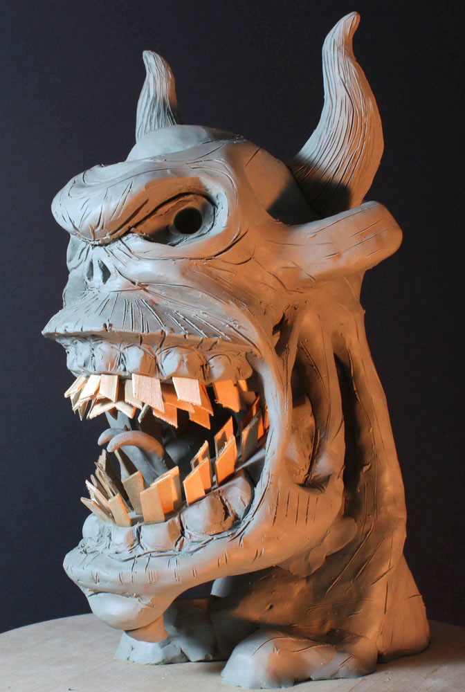 Rob mcdaniel 3dclay demon rage front