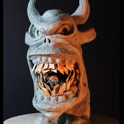 Rob mcdaniel 3dclay demon rage 500x400